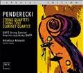 Penderecki STRING QUARTETS, STRING TRIO, CLARINET QUARTET